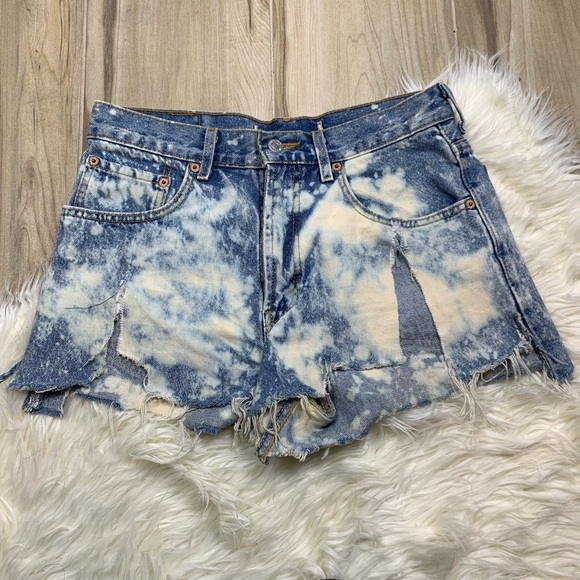Levi's Pants - Levi's Distressed Bleached High Rise Cut Off Short